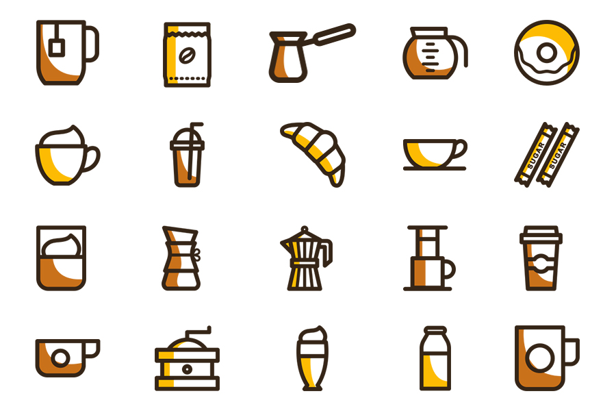 20 Free Coffee Vector Icons