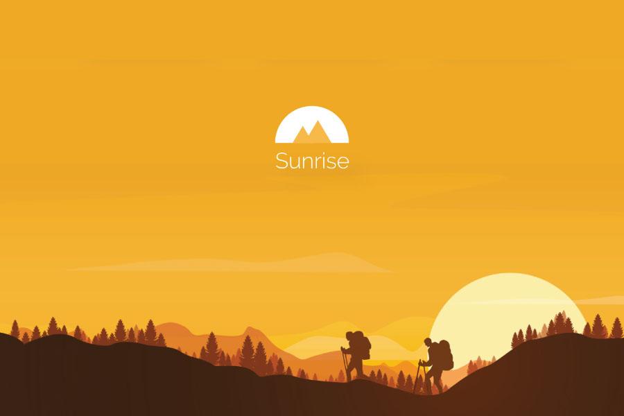 Sunrise Trekking Free UI Kit