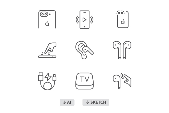 60 Free Apple Products Icon