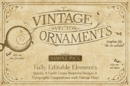 Vintage Vector Ornaments Free Sample