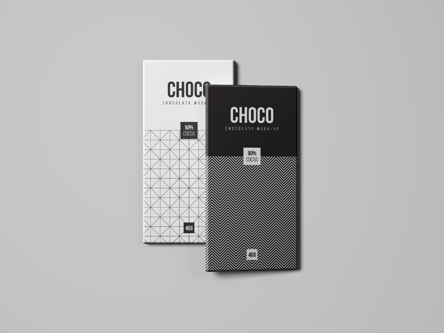 Chocolate Package Free Mockup