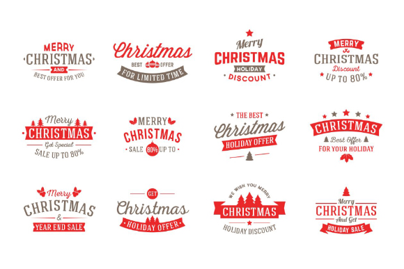Free Vector Christmas Badges