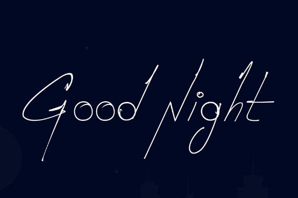 Goodnight Free Handwriting Font