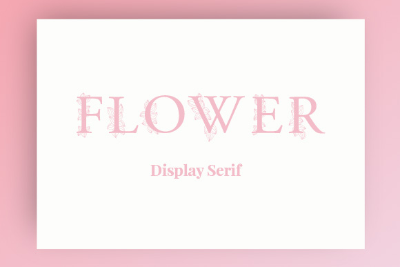 Flower Display Serif Free Typeface