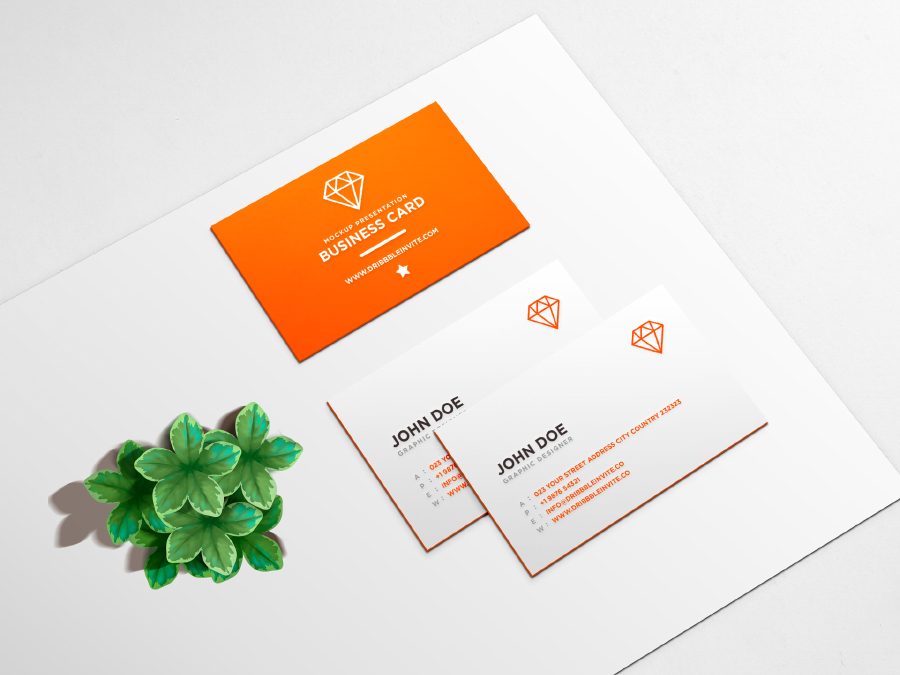 Clean Business Card PSD Mockup — Free Design Resources