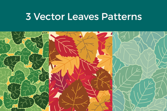 3 Vector Leaves Patterns