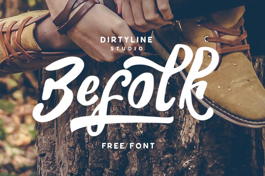 Befolk Brush Script Free Font