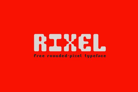Rixel Display Free Typeface