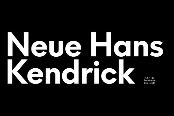 Neue Hans Kendrick Demo Font