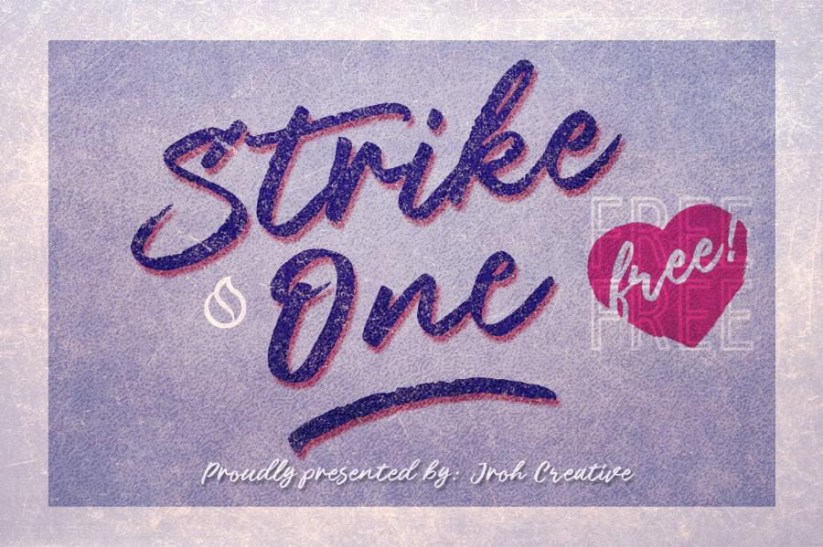 Strike One Script Free Font
