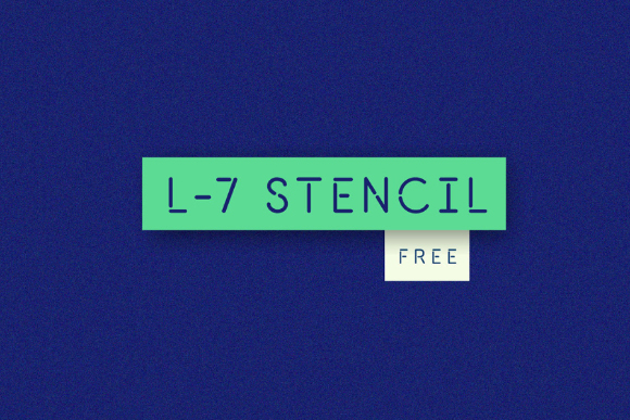 L7 Stencil Free Typeface