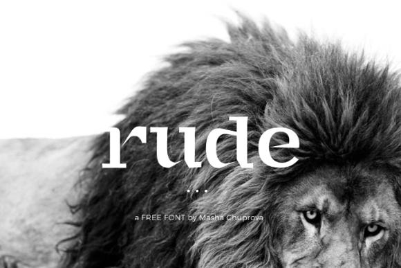 Rude Display Free Typeface