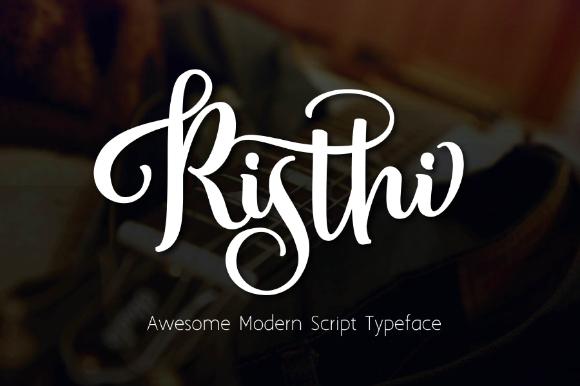 Risthi Script Free Demo typeface