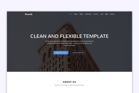 Krunch Free Agency Landing Page