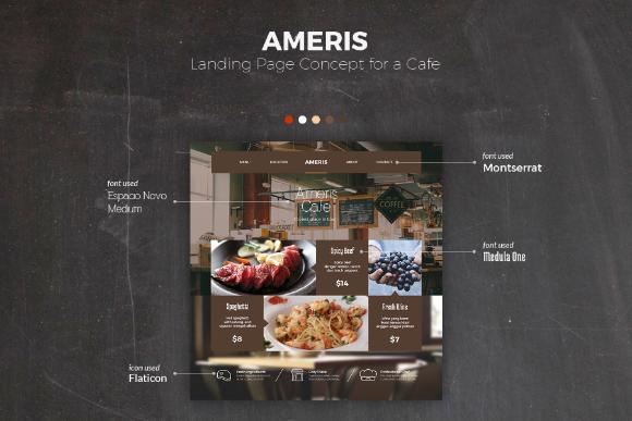 Amaris PSD Landing Page