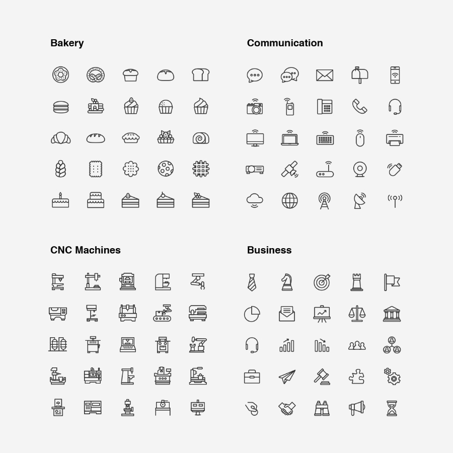 Ultimate Line Icon Pack Free Samples