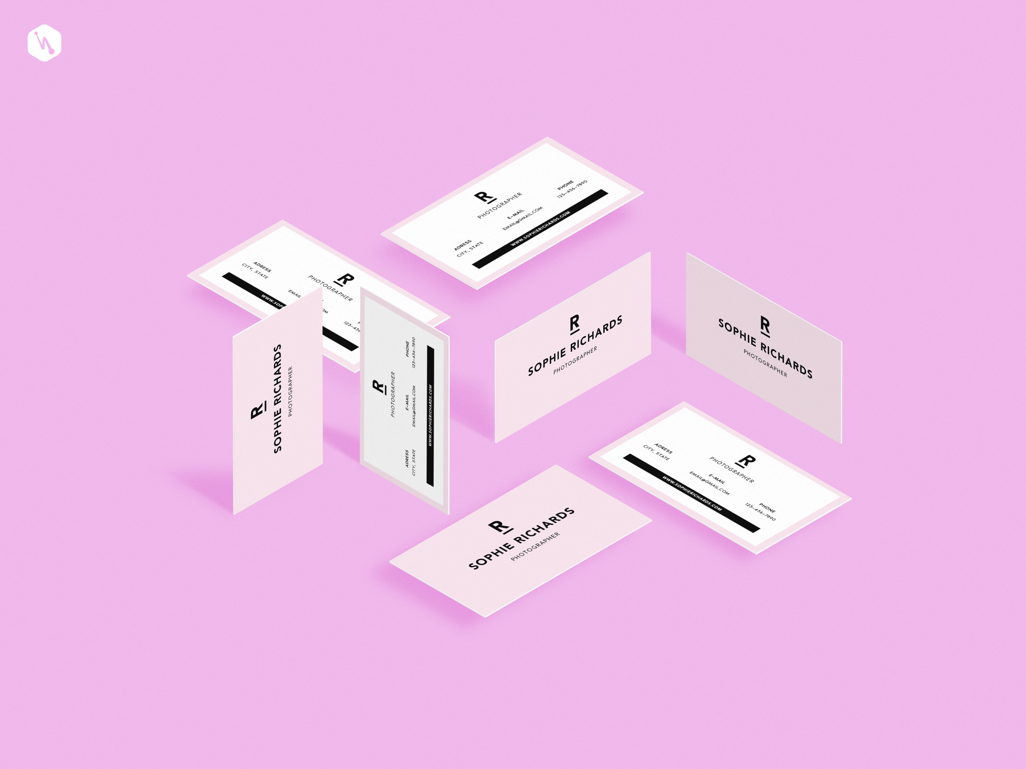 Perspective Business Cards Mockup — Free Design Resources