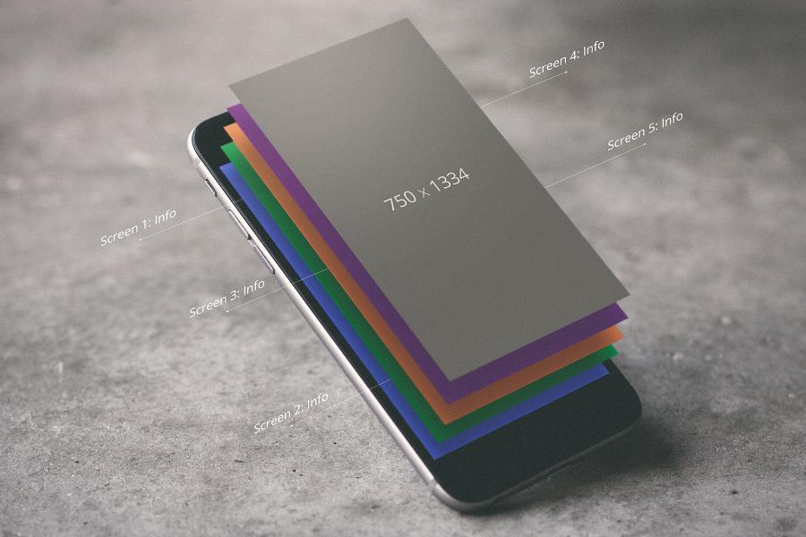 iPhone Floating Layers UI Mockup