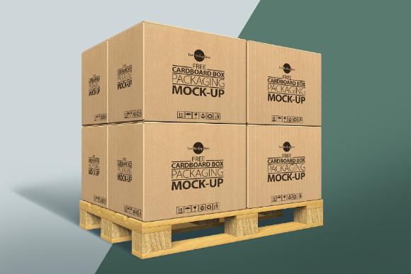 Free Cardboard Box PSD Mockup