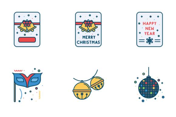Free New Year Celebration Icons