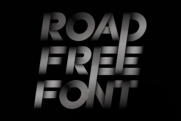 Road Retro Free Typeface