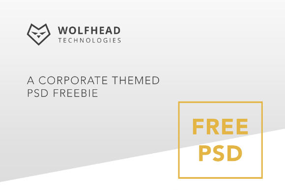 Free One Page Corporate PSD Template