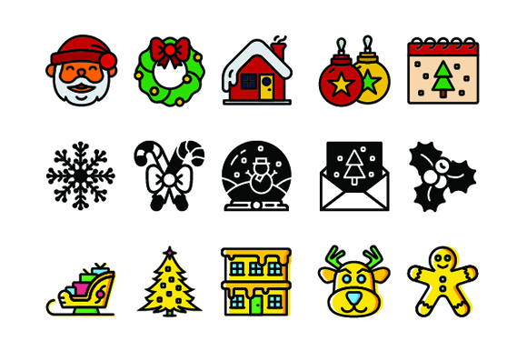 300 Christmas-Winter Icons