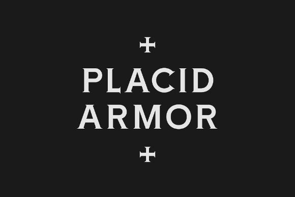 Placid Armor Typeface Free Demo