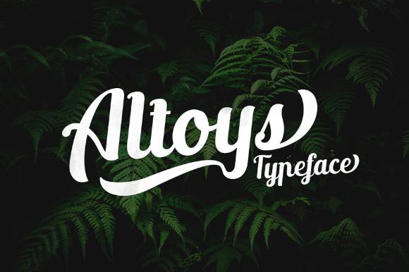 Altoys Italic Free Demo Typeface