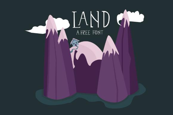 Land Display Free Typeface