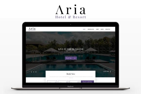 Aria Hotel Resort Free PSD