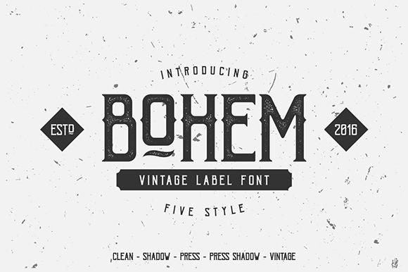 Bohem Press Free Demo Font