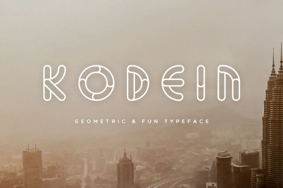 Kodein Geometric Free Typeface