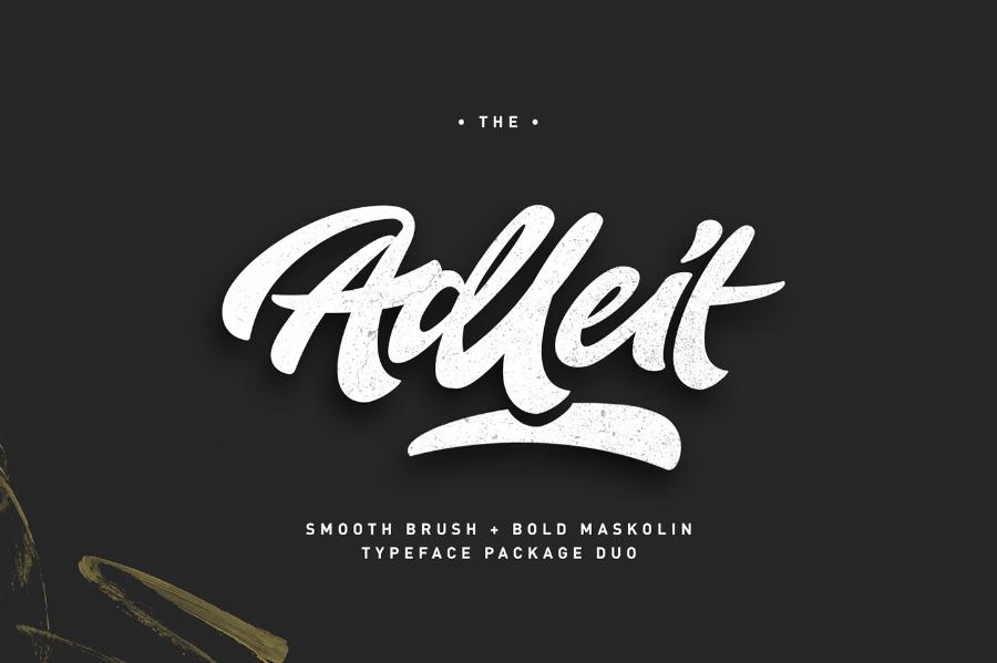 Aldeit Brush Script Free Demo