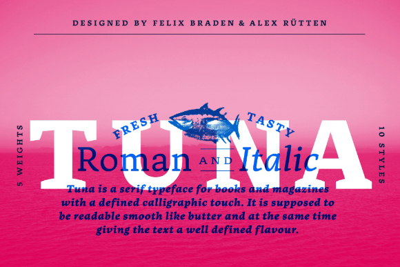 Tuna Typeface Free Demo Version