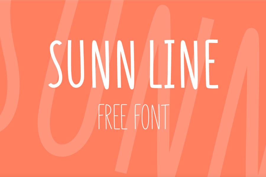Sunn Line Free Typeface
