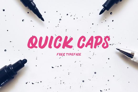 Quick Caps Free Typeface