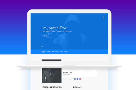 Free One Page Portfolio Website