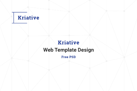 Kriative Free PSD Template Design