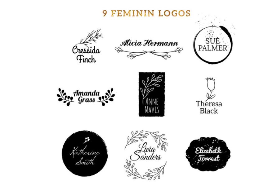 9 Free Feminine Vector Logos