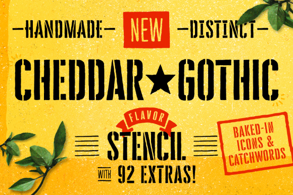 Cheddar Gothic Stencil Free