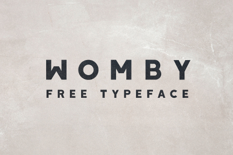 Womby Display Free Typeface