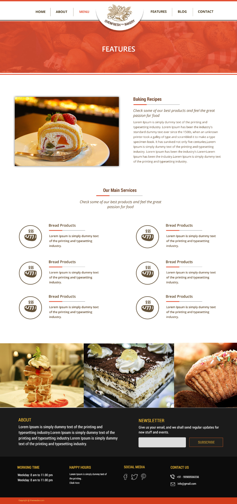 Bakery Free PSD Template Free Design Resources - Bakery brochure template free
