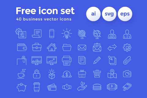 40 Business Vector Icons Pack