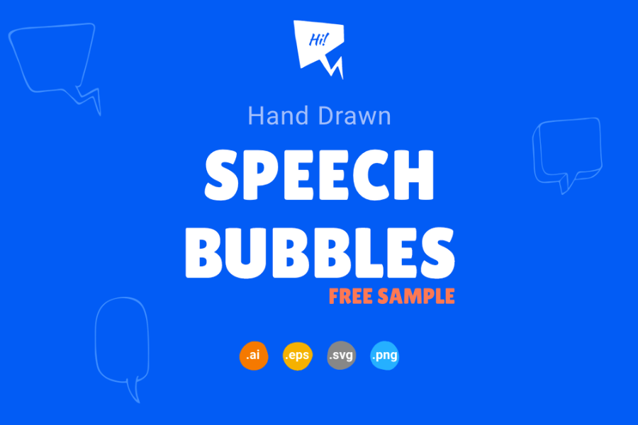 Hand-drawn Speech Bubble Free Samples