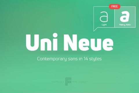 Uni Neue Free Demo Typeface