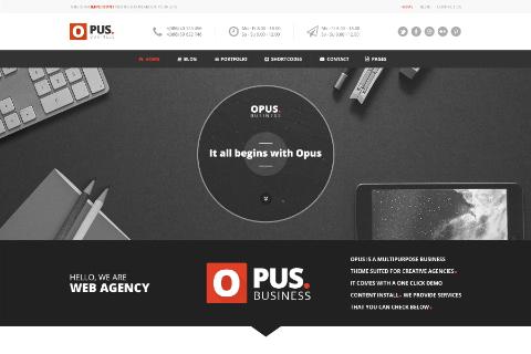 Opus Free PSD Template