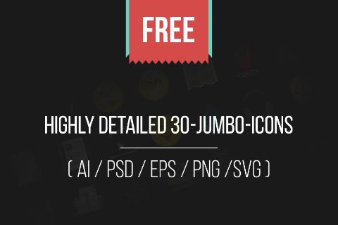Jumbo Flat Icons Free Sample