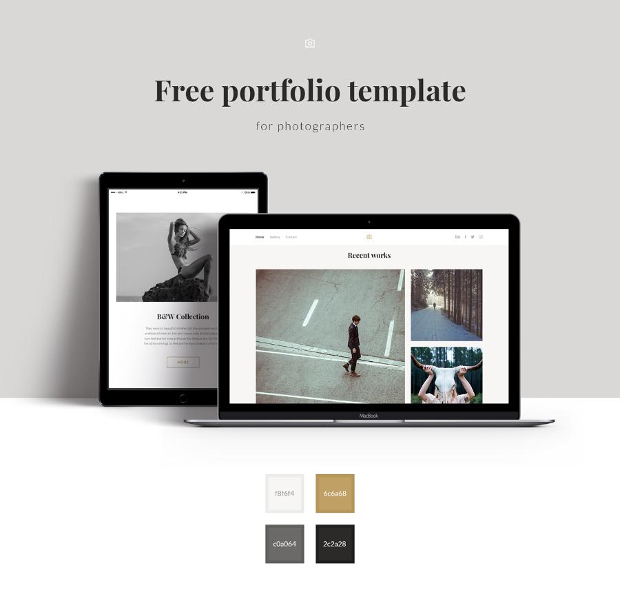 free photographer portfolio template free design resources. Black Bedroom Furniture Sets. Home Design Ideas
