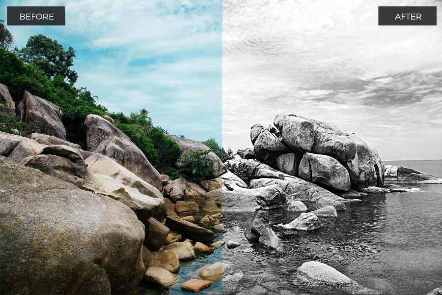 22 Awesome BW Photoshop Actions